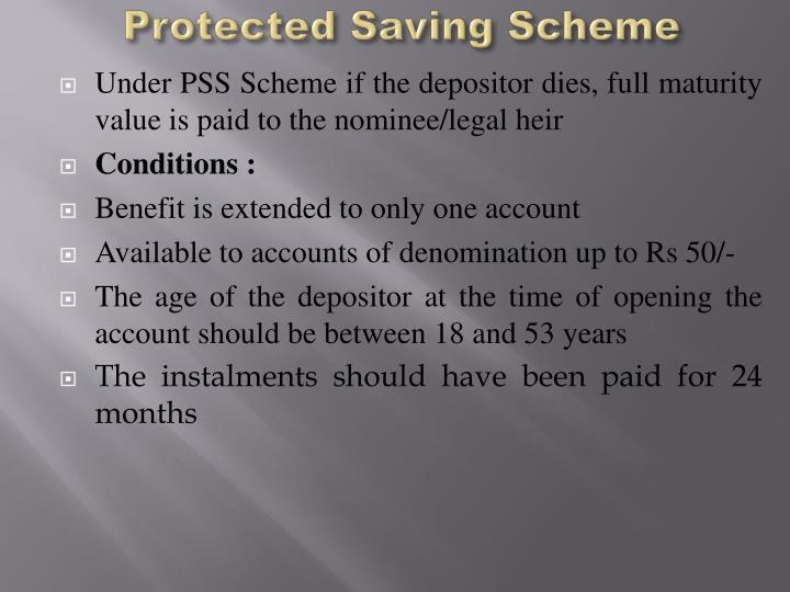 Protected Saving Scheme
