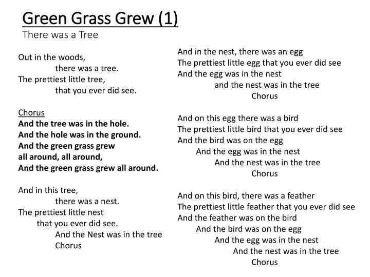 Green Grass Grew (1)