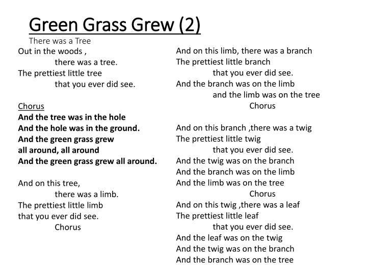 Green Grass Grew (2)