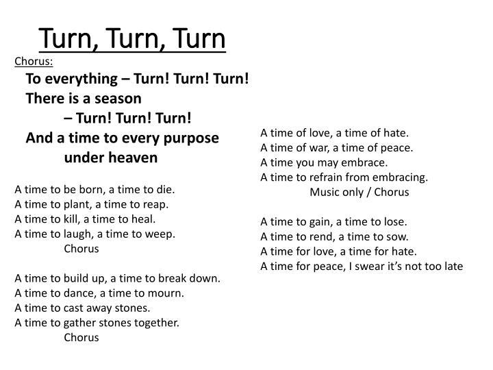 Turn, Turn,