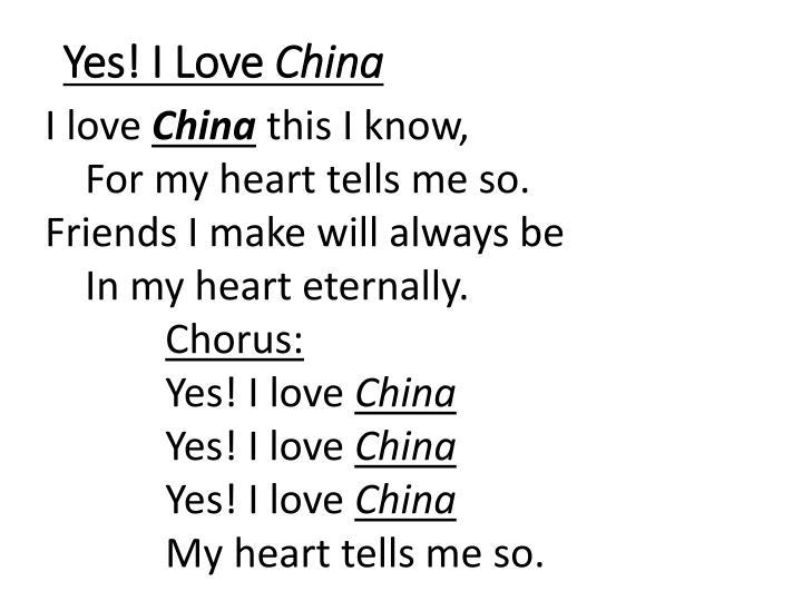 Yes! I Love