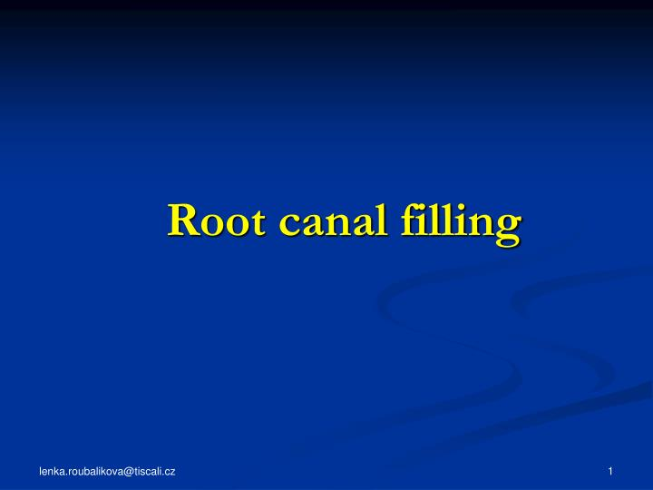 root canal filling n.