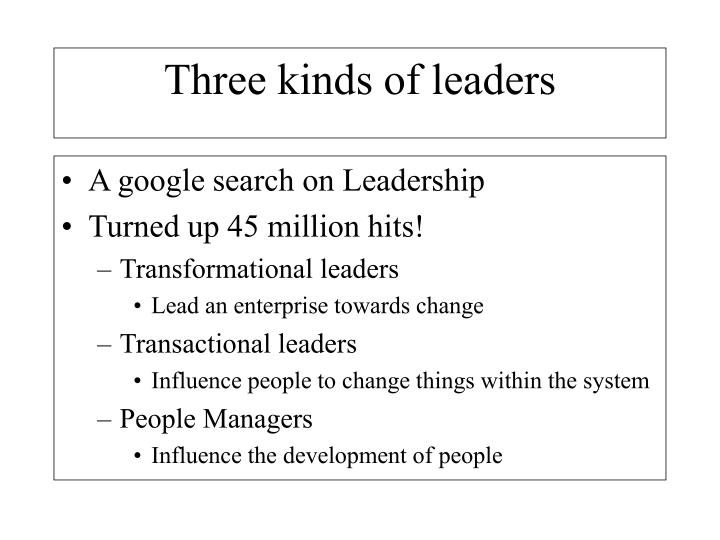 A google search on Leadership