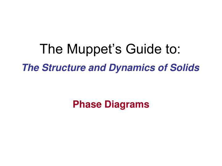 the muppet s guide to n.