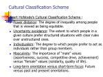 cultural classification scheme