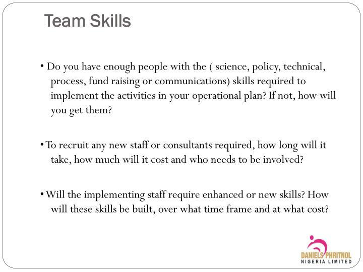 Team Skills