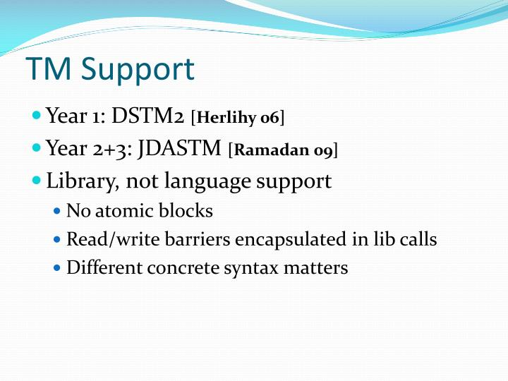 TM Support
