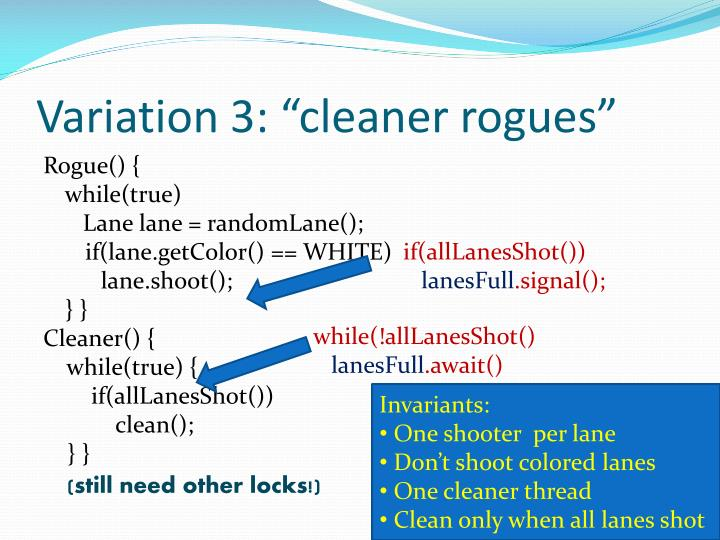 """Variation 3: """"cleaner rogues"""""""