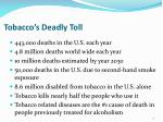 tobacco s deadly toll