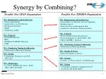 synergy by combining