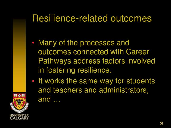 Resilience-related outcomes