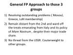 general fp approach to those 3 groups
