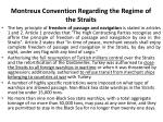 montreux convention regarding the regime of the straits