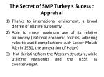 the secret of smp turkey s sucess appraisal