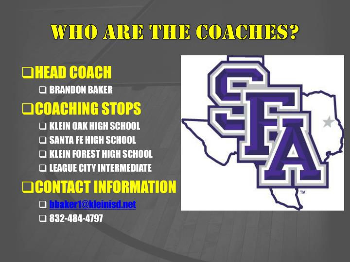 Who are the coaches