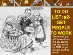 to do list 2 get people to work