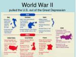 world war ii pulled the u s out of the great depression
