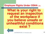 employee rights under osha 101