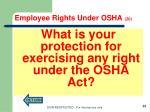 employee rights under osha 201