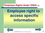 employee rights under osha 40
