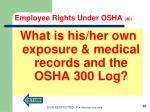 employee rights under osha 401