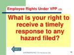 employee rights under vpp 201