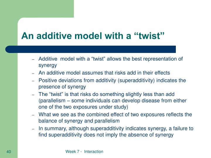 """An additive model with a """"twist"""""""