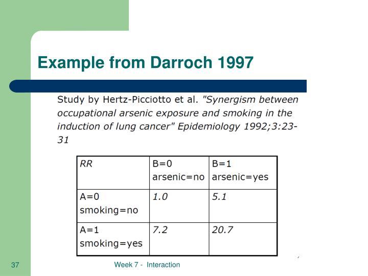 Example from Darroch 1997