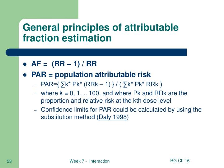 General principles of attributable fraction estimation