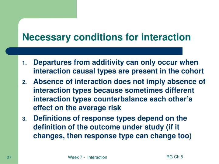 Necessary conditions for interaction