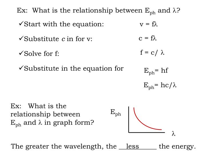 Ex:  What is the relationship between E