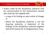 17 communication of orders