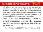 18 common proceedings