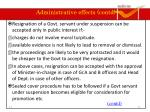 administrative effects contd