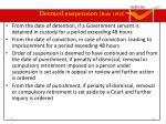 deemed suspension rule 10 2