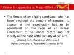 fitness for appearing in exam effect of censure