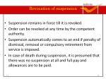 revocation of suspension
