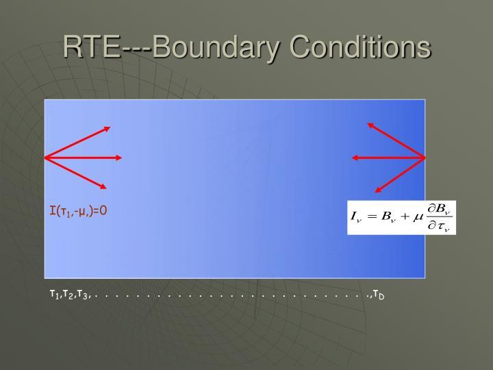 RTE---Boundary Conditions
