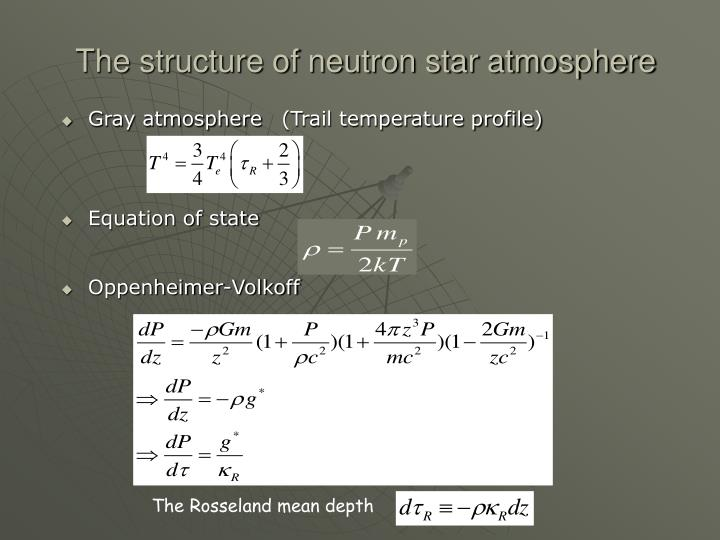 The structure of neutron star atmosphere