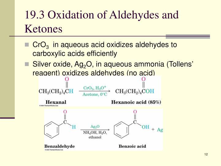 19.3 Oxidation of Aldehydes and Ketones