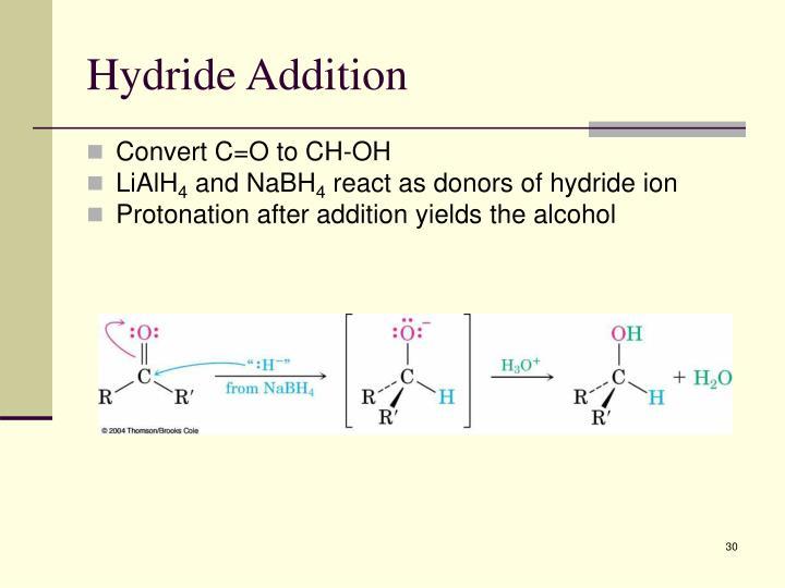 Hydride Addition