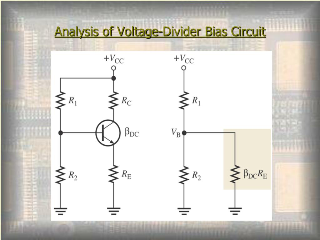 Voltage Divider Bias Circuit Of Bjt