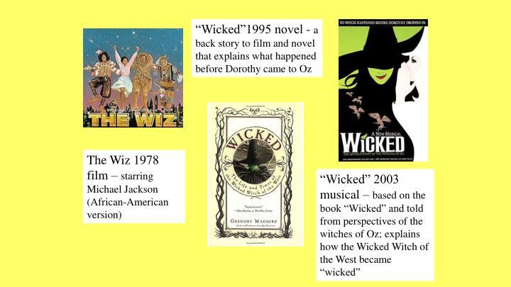"""""""Wicked""""1995 novel -"""
