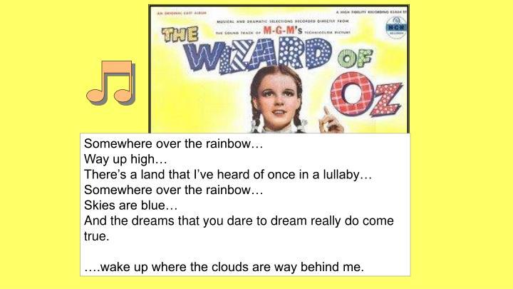 Somewhere over the rainbow…