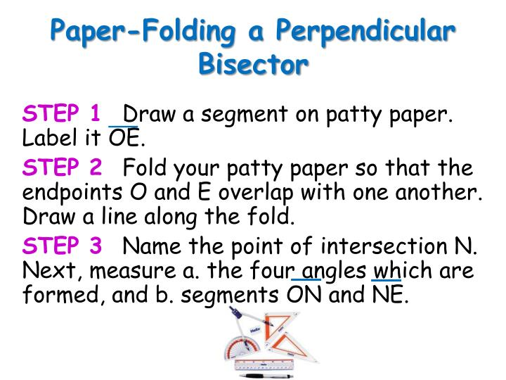 Paper-Folding a Perpendicular Bisector