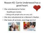 reason 2 carrie underwood has a good heart