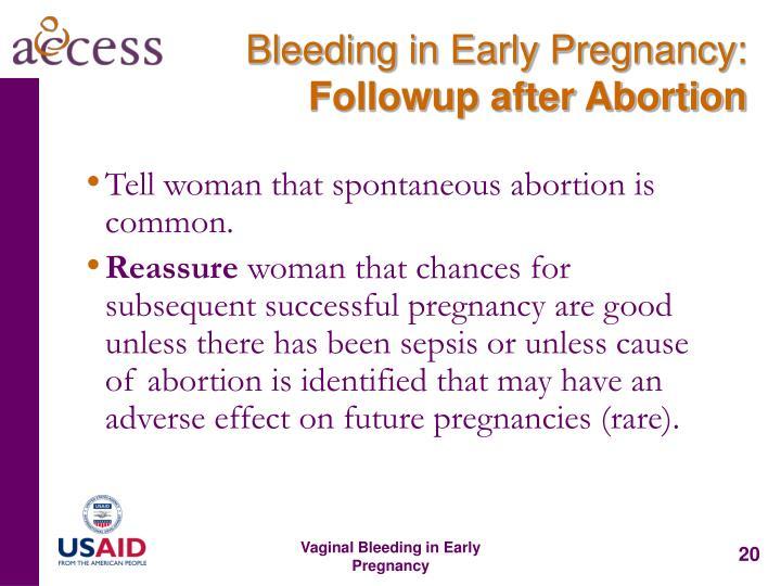 Bleeding in Early Pregnancy: