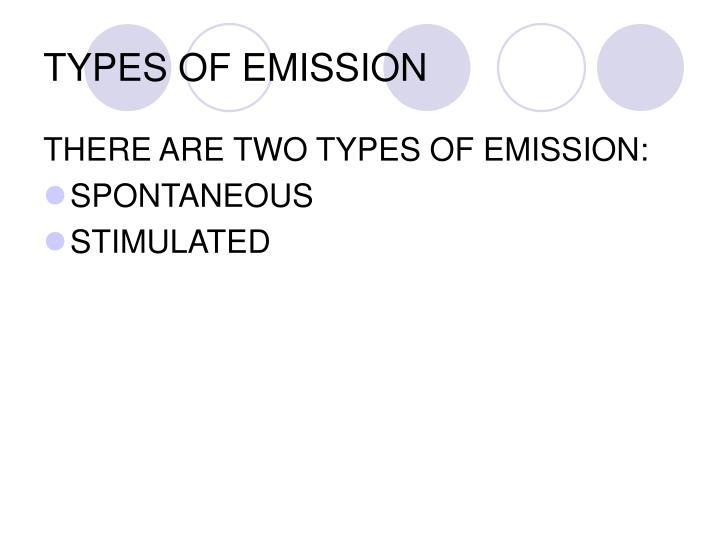 TYPES OF EMISSION