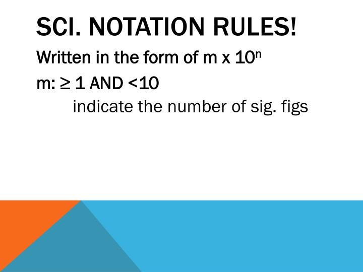 Sci. Notation Rules!
