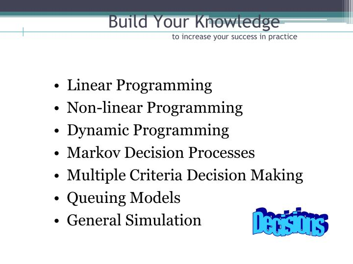 Build Your Knowledge